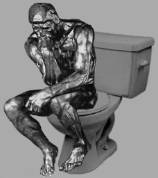 Thinker on a Toilet
