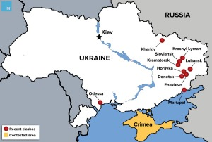 Ukraine Rebel Map
