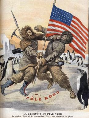 La conquete du Pole Nord : le dr Cook et le commandant  Robert Edwin Peary  s'en disputent la gloire - in Le Petit Journal du 19/09/1909