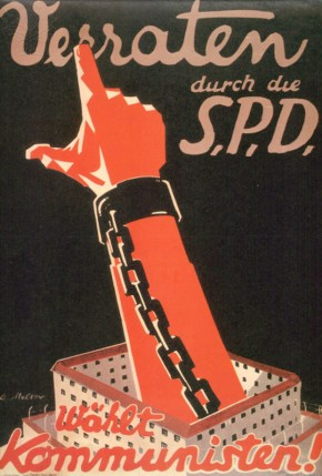 9-1919-1-19-E1  Germany/Elections/Const.National Assemb.  Germany: Weimar Republic / elections. Elections for the German Constituent National Assembly, 19 January 1919. 'Waehlt Kommunisten!' (Vote Communist.)- Election poster by the KPD (Communist Party of Germany.)