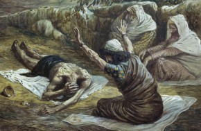 Job Lying in a Heap of Refuse  James J. Tissot (1836-1902/ French)  Jewish Museum, New York